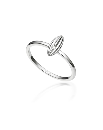 Rhodineret Sterlingsølv ring