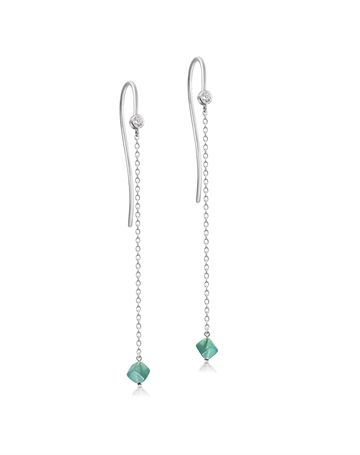 Aventurine Harmony Earrings with chain