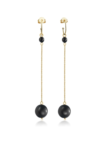 Onyx Earrings with chain